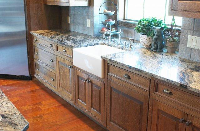Beaded Face Frame Quartersawn Oak Kitchen - Hinrichs Fine Woods ...