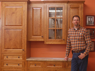 Marcus Hinrichs with Custom Cabinets